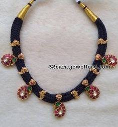 Black Thread Necklace Mango Motifs