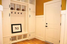 Mudroom storage bench plans Hooks I used this plan as inspiration to customize a bench House Plenty of room to stow away some clutter Entry Mudroom Bench Plans, Mudroom Storage Bench, Window Seat Storage, Mudroom Laundry Room, Entryway Storage, Bench With Storage, Locker Storage, Storage Ideas, Entryway Ideas
