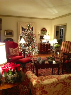 Marlene, a lovely customer of my blue and white porcelain, sent me these absolutely beautiful photos of her home all ready for Christm...