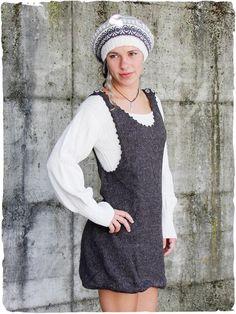 6b749a17168c Vestito corto Cecilia in lana d alpaca  Vestito con maniche lunghe in  lana