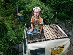 Kat in het bakkie,  the new old skool roof rack