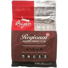 The Best Premium Dry Cat Foods for Adult Cats: Orijen Grain Free Regional Red Dry Cat Food