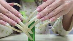 Long Natural Nails, Long Nails, Icing, Cute Nails