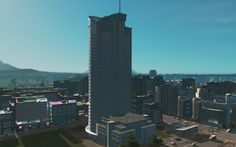 Cities: Skylines — After Dark #12 | Башня транспорта