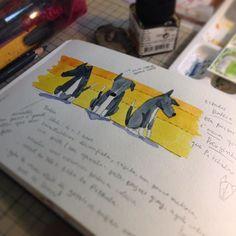 Mais detalhes da Baleia More Whale the dog details childrenillustration color watercolor dog cute dwgdaily