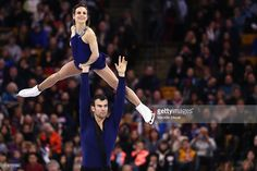 Meagan Duhamel and Eric Radford of Canada skate in the Pairs Free Skate on Day 6 of the ISU World Figure Skating Championships 2016 at TD Garden on April 2, 2016 in Boston, Massachusetts.