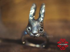 The Big Bunny 925 Sterling Silver Ring (R26) by silversmithhk on Etsy https://www.etsy.com/listing/50353295/the-big-bunny-925-sterling-silver-ring