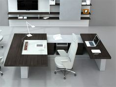 Wooden executive desk ALA Office Collection by ESTEL