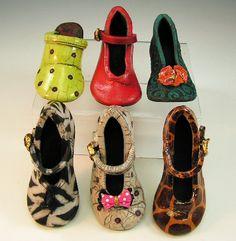 Joanne Bedient - #Children Shoes #Raku