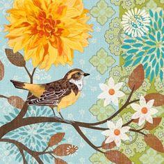 Spring Garden Oriole by Jennifer Brinley | Ruth Levison Design