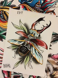 Find the perfect tattoo artist to create the work of art that is you Beetle Tattoo, Bug Tattoo, Insect Tattoo, Old School Tattoo Designs, Unique Tattoo Designs, Unique Tattoos, Small Tattoos, Tattoo Design Drawings, Tattoo Sketches