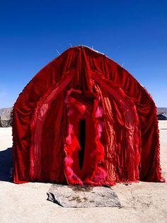 Art installation The Misting Vagina by Rosario Dawson - See this image on Photobucket. Land Art, Origin Of The World, Indian Photoshoot, Rosario Dawson, Feminist Art, Divine Feminine, Picture Wall, Installation Art, Burning Man