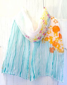 Hand painted silk scarf - neat idea!!!!