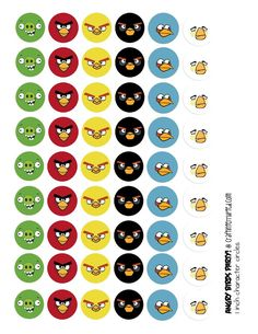 lots of ideas for a kids Angry Birds party. Make for badges or stickers. Cumpleaños Angry Birds, Festa Angry Birds, Bird Birthday Parties, Boy Birthday, Angry Birt, Cumple Paw Patrol, Bird Party, Bird Crafts, Paper Crafts