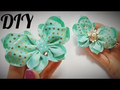 Diy Bow, Diy Ribbon, Ribbon Crafts, Ribbon Bows, Homemade Bows, Disney Hair Bows, Crochet Hair Accessories, Diy Baby Headbands, Hair Bow Tutorial
