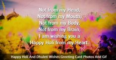 Happy Holi Status with Photos : Read And Share Best Happy Holi And Happy Dhuleti Wishes Greeting Cards. Find Top Happy Holi Shayari With I. Happy Holi Shayari, Happy Holi Quotes, Happy Holi Greetings, Happy Holi Wishes, Happy Holi Images Hd, Happy Holi In Advance, Happy Holi Status, Happy Holi Photo, Happy Holi Message