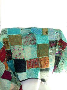 Vintage Quilt BLUE Patchwork FULL / QUEEN Made in Turkey