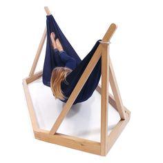 #Hamaca que se sujeta en una estructura de madera de Laurent Corio