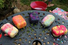 tutorial of wet-felted soap bars