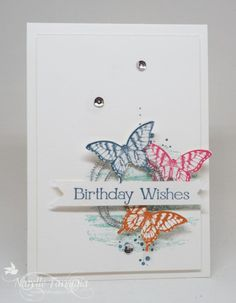 Four You, Papillion Potpourri, Stampin Up, Timeless Textures - SU - butterflies, birthday