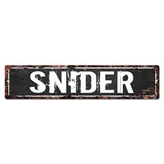 SNIDER MAN CAVE Street Sign Chic Rustic Street Plate Sign Bar Cafe Restaurant shop Home man cave Decor Gift Ideas * Check out the image by visiting the link. (This is an affiliate link and I receive a commission for the sales)