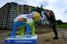 7 July first of Herd of Elephants , a scuplture trail across the… All About Elephants, Herd Of Elephants, South Yorkshire, Yorkshire England, Animal Magic, Elephant Art, Childrens Hospital, Sheffield, Old And New