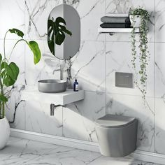 mode orion stone grey wall hung toilet and countertop basin suite victoriaplum, affiliate partner Countertop Basin, Grey Countertops, Retro Bathrooms, Grey Bathrooms, Flat Marbles, Mid Century Modern Bathroom, Basin Vanity Unit, Concealed Cistern, Wall Hung Toilet