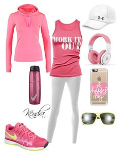 """""""Couple Of Laps Around The Track"""" by k1974johnson1117 ❤ liked on Polyvore featuring moda, NIKE, Under Armour, J.TOMSON, Nicki Minaj y Casetify"""