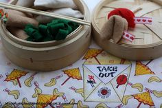 """How to make Chinese """"food"""" out of felt for your dramatic play area"""