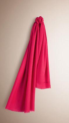 Fuchsia pink The Lightweight Cashmere Scarf -  1