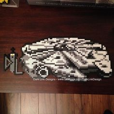 MIllennium Falcon - Star Wars perler beads by darklinkdesigns