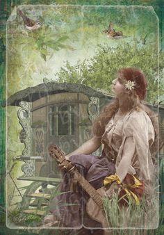 Beautiful Gypsy Greeting Card