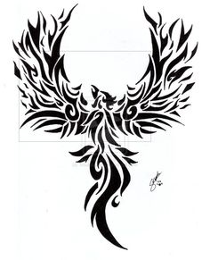 Images For > Phoenix Rising From The Ashes Tattoo Pictures