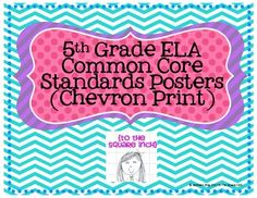 Includes an individual poster for each standard as well as strand headings. Perfect for posting individual standards around your classroom while they are being taught! Common Core Posters, Common Core Ela, Common Core Standards, 5th Grade Ela, Eighth Grade, Fourth Grade, Teacher Tools, Teacher Resources, Teaching Ideas