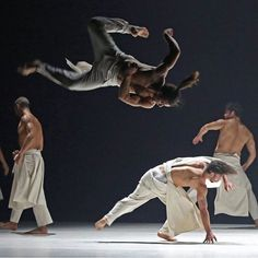 """Members of La Compagnie Hervé Koubi performed in """"What the Day Owes to the Night"""" at the Fall for Dance Festival last Friday. The number combined martial arts #capoeira and #hiphop with the Algerian heritage and French training of its choreographer Hervé Koubi. To see more photos of #dance and #dancers follow @andrea_mohin a @nytimes staff photographer. The #FallforDance Festival  which takes a mix-and-match approach to dance from around the world  runs through Sunday at @nycitycenter. by…"""