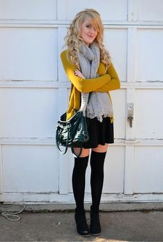 im kinda in love with the yellow and black. but the socks! OMG amazing.