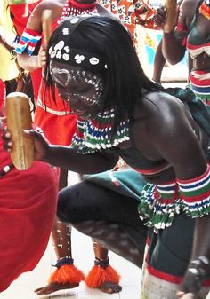 Local dance. the gambia