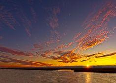 SHIMMERING CLOUDS >> Sunrise at Forsythe NWR by Flickr User: Michael T. Pyle.