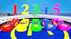 ⭐ Colors McQueen Nursery Rhymes Songs ⭐ Spiderman & Disney Pixar Cars Ca...