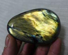 125g Natural Polished Flash Labradorite Gemstone Madagascar K7#
