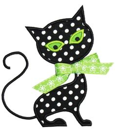Cat Applique Design