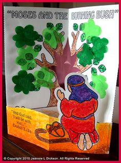 Creative Sunday School Crafts: Moses and The Burning Bush