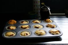 Peanut butter and chocolate chips cupcakes and mate ^^ | akarakucrafts