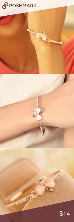 Gold Tone Clover Bangle Bracelet Gold Tone Clover Bangle Bracelet Jewelry Bracelets