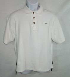 MEN'S ORVIS SHIRT POLO WHITE MEDIUM SLEEVE 100% COTTON SHORT SLEEVE SPORTING SS #Orvis #PoloRugby
