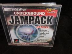 Sony Playstation 1 Underground Jampack Demo Games Black Disc  1999