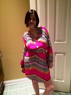 "Skyler looks fabulous in her new Alice and Trixie ""electric zigzag Robin"" dress. Perfect for va-ca in South Beach."