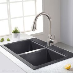 KOHLER Cape Dory Drop In Cast Iron 33 In. 4 Hole Single Bowl Kitchen Sink  In White | New House | Pinterest | Sinks, Cape And Iron