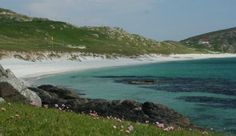 The Prince's Beach on the Hebridean island of Eriskay - where Bonnie Prince Charlie 1st landed in 1745 - this is one of my top fav Scottish beaches - visit in May or June to see the carpet of wild flowers too!