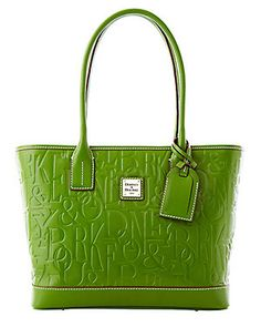 1ffbbc34e5 Dooney   Bourke Retro Small Russel Bag (Grass Green) Signature embossed  leather L 12 W 5 H strap drop Top-zip closure  flat bottom with protective  feet ...